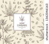 background with hemp  cannabis... | Shutterstock .eps vector #1362046163