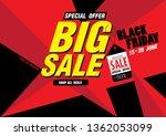 sale banner template design  50 ... | Shutterstock .eps vector #1362053099