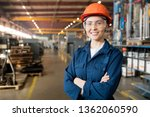 young smiling female technician ... | Shutterstock . vector #1362060590