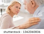 compassionate aged blonde... | Shutterstock . vector #1362060836