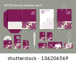 vector corporate design for... | Shutterstock .eps vector #136206569