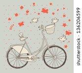 vintage bicycle in vector.... | Shutterstock .eps vector #136206599