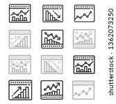 graph and diagram icons set.... | Shutterstock .eps vector #1362073250