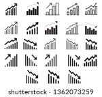 graph and diagram icons set.... | Shutterstock .eps vector #1362073259