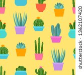 seamless floral pattern with... | Shutterstock .eps vector #1362107420