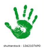 Green Handprint Isolated