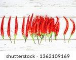 hot red pepper on white wooden... | Shutterstock . vector #1362109169