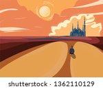 vector image of muslim life in... | Shutterstock .eps vector #1362110129