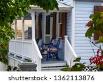 front porch on a white house... | Shutterstock . vector #1362113876
