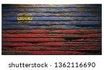 flag lichtenstein old wood...   Shutterstock . vector #1362116690