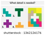 puzzle game with colorful...   Shutterstock .eps vector #1362126176