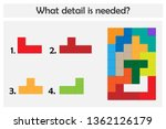 puzzle game with colorful...   Shutterstock .eps vector #1362126179