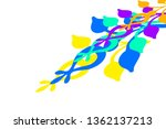 illustration colorful leafy and ... | Shutterstock . vector #1362137213