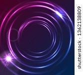 shiny blue purple glowing neon...   Shutterstock .eps vector #1362138809