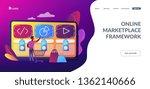 customer with shopping cart... | Shutterstock .eps vector #1362140666