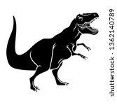 Dinosaur Silhouette. Vector...