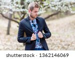happy young fashion man with...   Shutterstock . vector #1362146069