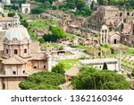 aerial view. roman forum. rome. ... | Shutterstock . vector #1362160346