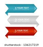 vector arrow headers ...   Shutterstock .eps vector #136217219