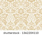 vector seamless damask gold... | Shutterstock .eps vector #1362204110