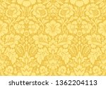 vector seamless damask gold... | Shutterstock .eps vector #1362204113