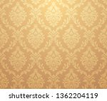 vector damask gold patterns.... | Shutterstock .eps vector #1362204119