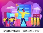 tiny people protesters against... | Shutterstock .eps vector #1362210449