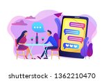 man and woman using online... | Shutterstock .eps vector #1362210470