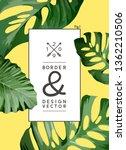 a vintage palm tree leaf frame... | Shutterstock .eps vector #1362210506