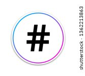 hashtag icon isolated on white...