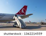 airbus a 321 at istanbul...   Shutterstock . vector #1362214559