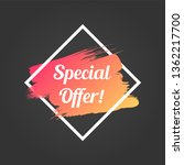special offer promo lettering.... | Shutterstock .eps vector #1362217700