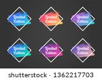 limited edition color promo... | Shutterstock .eps vector #1362217703