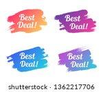 best deal color promo lettering.... | Shutterstock .eps vector #1362217706