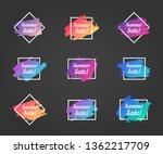 summer sale promo phrase.... | Shutterstock .eps vector #1362217709