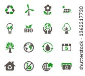 world environment day icons.... | Shutterstock .eps vector #1362217730