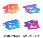 cash back color promo lettering.... | Shutterstock .eps vector #1362218576