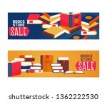 book store sale set of banners  ... | Shutterstock .eps vector #1362222530