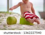 little toddler boy  learning... | Shutterstock . vector #1362227540