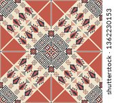 seamless pattern design with... | Shutterstock .eps vector #1362230153