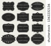 black empty stamp. frames.... | Shutterstock .eps vector #1362232136