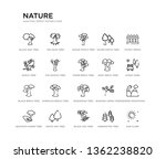 set of 20 line icons such as... | Shutterstock .eps vector #1362238820