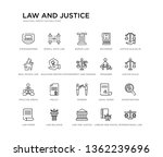 set of 20 line icons such as... | Shutterstock .eps vector #1362239696