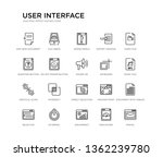 set of 20 line icons such as...   Shutterstock .eps vector #1362239780
