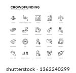 set of 20 line icons such as... | Shutterstock .eps vector #1362240299