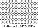 Black And White Honey Hexagona...
