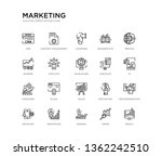 set of 20 line icons such as... | Shutterstock .eps vector #1362242510