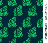 vector seamless grunge floral... | Shutterstock .eps vector #1362244373