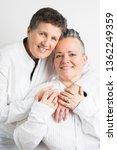 lesbian couple in love   gay... | Shutterstock . vector #1362249359