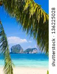 exotic paradise green view | Shutterstock . vector #136225028